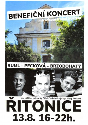 Benefiční koncert na rekonstrukci kostela 13.8. 2021 v Řitonicích