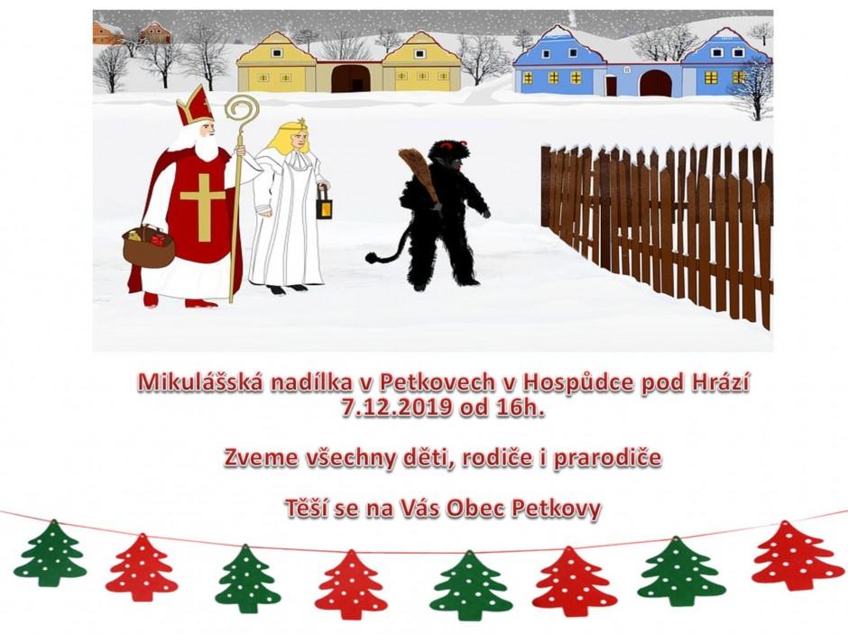 Mikulášská nadílka v Petkovech v Hospůdce pod Hrází